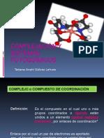 Complejación y Sistemas Fotoquímicos