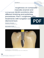 Super fi cial roughness on composite surface, composite enamel and composite dentin junctions after different fi nishing and polishing procedures. Part I