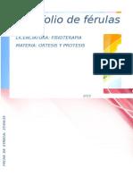 Portafolio de Ferulas Ortesis y Protesis