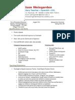 allison weingarden teaching resume