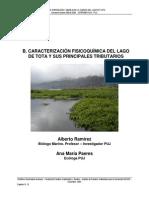 Caracterizacion Fisico Quimica del lago de tota