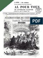"""Ernest CAPENDU, """"Le chasseur de panthères. Épisode des massacres de Syrie"""", 1861"""