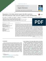 Degradation of All-Inkjet-printed Organic Thin-film Transistors