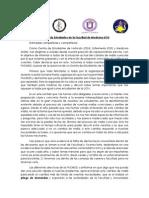Comunicado Centros de Estudiantes FACMED