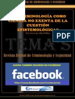 51 - La Criminología Como Ciencia No Exenta de La Cuestión Epistemológica