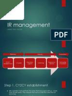 IR Management Flow