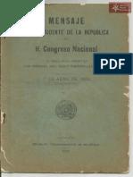 Mensaje Presidencial Cecilio Baez 1906