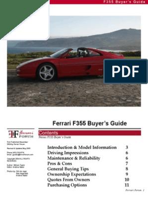 Ferrari 355pdf Manual Transmission Transmission Mechanics
