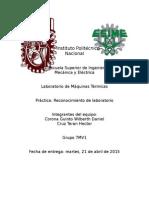 Máquinas Térmicas - Lab - Práctica de Reconocimiento