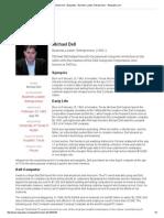 Michael Dell - Biography - Business Leader, Entrepreneur - Biography