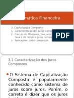 Matematica Financeira- Capitalizacao Composta