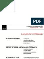 2014-2 el arquitecto - la producción - roles