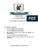 Contract Law Final Exam, May 2010