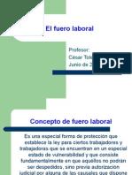 Sobre Fuero Laboral  en Chile
