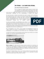Ejecucion Penal, La sancion Penal.docx