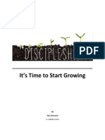 Discipleship It's Time to Start Growing