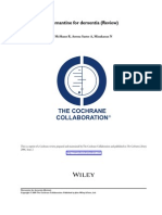 Memantine for Dementia (Review) Cochrane.