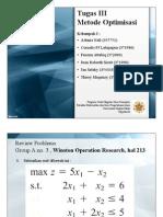 penyelesaian masalah optimasi dengan metode grafik