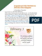Shri Shirdi Sai Speaks for 3rd Feb 2010