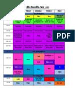 2 Blue Timetable