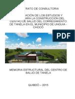 Memoria de Calculo Estructural Centro de Salud de Tanela
