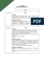 Cronograma Psicopatología