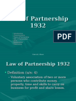 Partnership Laws of 1932