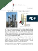 destilación fraccioanria