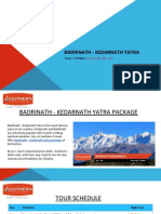 Exclusive Badrinath - Kedarnath Yatra Packages 2015