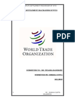 Dispute Settlement Machanism of Wto