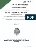 Colección de privilegios, franquezas, exenciones. Tomo 6