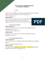 Normele SBL de Întocmire a Bibliografiei Generale