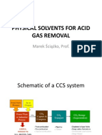 Physical Solvents for Acid Gas Removal