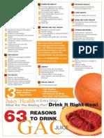 63 Reasons to drink Gaç juice (g3 from Pharmanex-Nu Skin)
