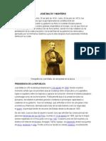 José Balta y Ferrocarriles