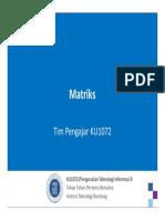 KU1072 Matriks CPP
