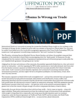 Why President Obama is Wrong on Trade - David Singh Grewal
