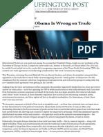 Why President Obama is Wrong on Trade-David Singh Grewal