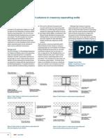 Acoustic Detailing Steel Columns in Masonry Separating Walls