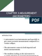 JJ104 Workshop Technology Chapter3 Measurement Micrometers