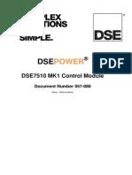 Deep Sea Dse7510 Manual Book