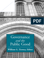 William G. Tierney Governance and the Public Good (S U N Y Series, Frontiers in Education) 2006