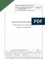 N2-He Leak Testing Procedure