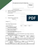 DBSKKV Recruitment 2015 Application Form Format For Professor Post