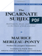 232807021 Maurice Merleau Ponty the Incarnate Subject PDF