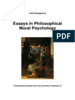 Essays In Philosophical Moral Psychology