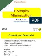4 LP Simplex Minimization
