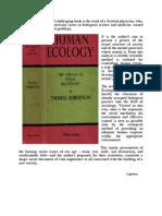 "Thomas Robertson ""Human Ecology""."