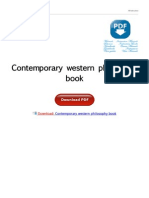 Contemporary Western Philosophy Book