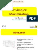 3 LP Simplex Maximization